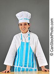 cuisinier, femme