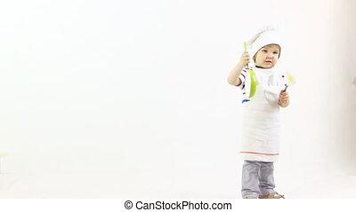 cuisinier, jeune