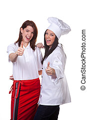 cuisinier, maintenu, force, service
