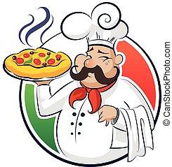 cuisinier, pizza