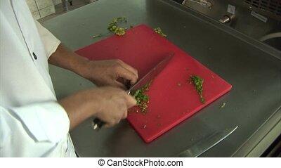 cuisinier, prépare