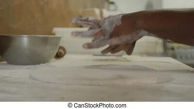 cuisinier, préparer, pâte