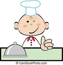 cuisinier, rigolote