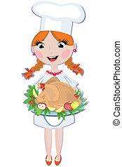 cuisinier, turquie, girl