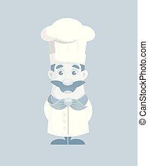 cuisinier, vecteur, illustration