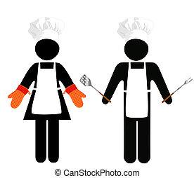 cuisiniers, symbol-people