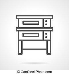cuisson, équipement, vecteur, conception, noir, ligne, icône