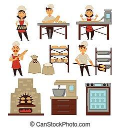 cuisson, industrie, boulangerie, production, boulangers,...