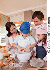 cuisson, portrait famille