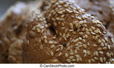 cuit, blé, maison, entier, pain, ingrédients, bio