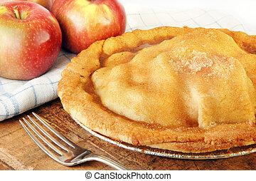 cuit, pomme, fraîchement, tarte