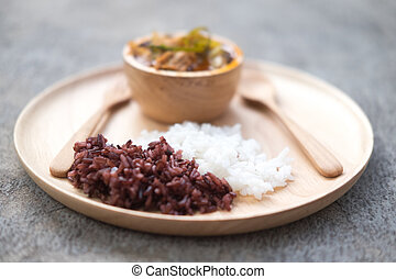 riz riceberry riceberry sain bol nourriture riz blanc. Black Bedroom Furniture Sets. Home Design Ideas