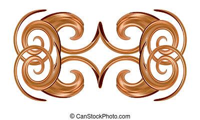 cuivre, conception, décoratif
