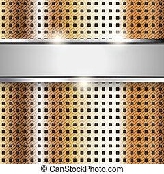 cuivre, fond, métal, texture, fer, surface
