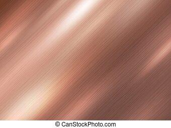 cuivre, métal, texture, vecteur, illustration, fond