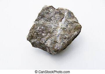 cuivre, minéral, sur, isolé, sulfide, fer, blanc