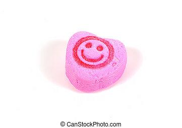 cukorka, mosoly