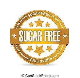 cukr, design, svobodný, ilustrace, pečeť