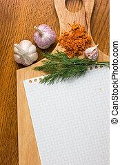 culinário, receitas, caderno