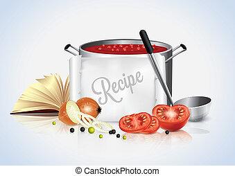culinair, spandoek, tekst