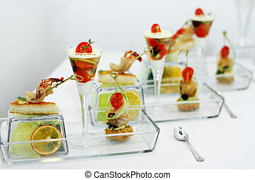 Culinary imagination with a lemon and vegetables