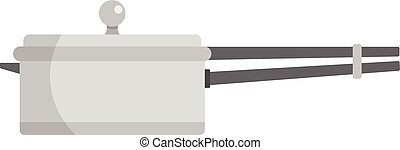 Culinary pan icon, flat style