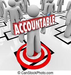 culpa, palabra, cha, apuntar, trabajador, fijación, persona, accountable, org