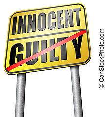 culpado, ou, inocente