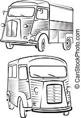 cult old van - old school design - old school car, vintage ...