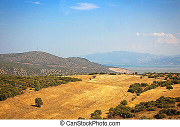 Cultivated fields in Greece