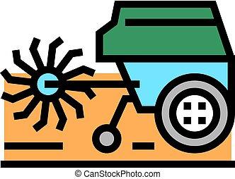 cultivator machine color icon vector illustration