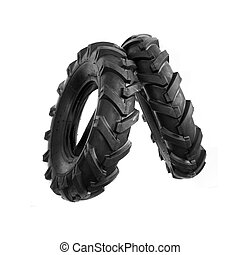 Cultivator tyre - New, unused black cultivator tyres. ...