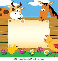 cultive animais, cartão