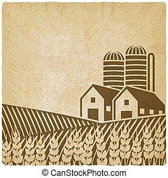 cultive campo, antigas, fundo