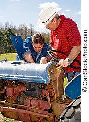 cultive equipamento, manutenção