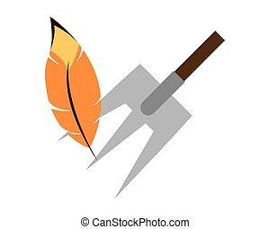 cultive ferramenta, ancinho, ícone, isolado