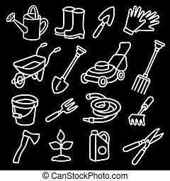 cultive ferramentas, ícones
