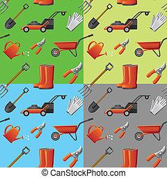 cultive ferramentas, seamless, padrão