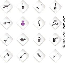cultive ferramentas, simplesmente, ícones