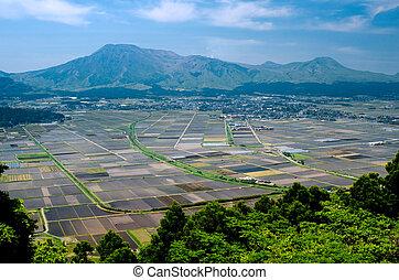 cultivo, área, e, montanhas