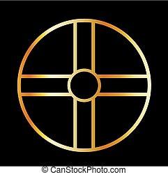 culto, dorato, croce del sud, solare