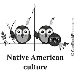 cultura, americano, nativo