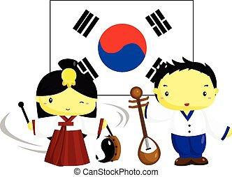 cultura, bandera de korean