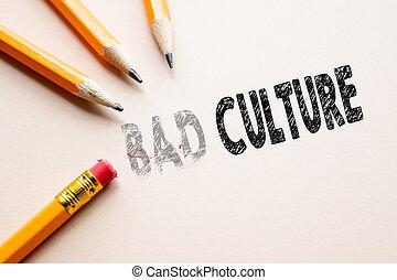 cultura, cattivo, concetto