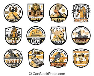 cultura, egipcio, historia, religión, iconos