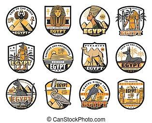 cultura, egiziano, storia, religione, icone