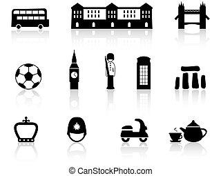 cultura, inglés, iconos