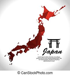 cultura, mappa, giapponese, manifesto