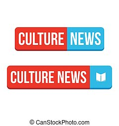 cultura, noticias, botón, vector