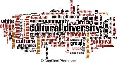 Cultural diversity word cloud concept. Vector illustration